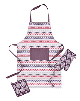Modern Riad Apron Glove Pot Holder
