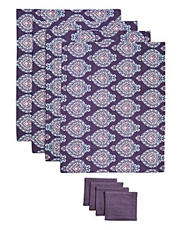 Modern Riad 4 Placemats & Coasters