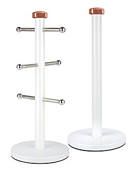 Tower Linear Towel Pole And Mug Tree