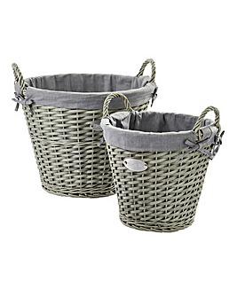 Store It Set of 2 Round Baskets