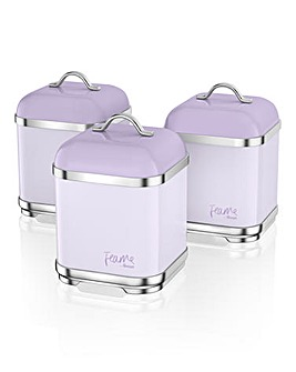 Fearne By SwanSet of 3 Canisters Lily