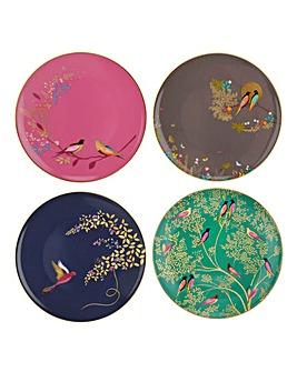 Sara Miller Set of 4 Chelsea Cake Plates