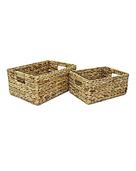 Hyacinth Open Baskets X 2