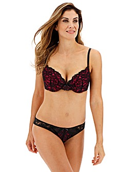Ann Summers Timeless Affair Red/Black Padded Plunge Bra