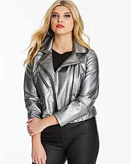 Vero Moda Curve Mae Faux Leather Jacket