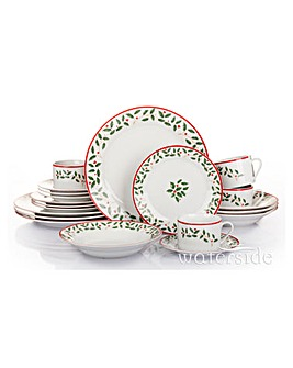 20 Piece Holly Dinnerware Set