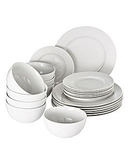 24 Piece Pure White Dinner Set