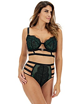 Gabi Fresh Playful Promises Forest Green/Black Front Fastening Bra