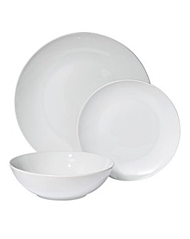 Simple White 12 Piece Dinnerset