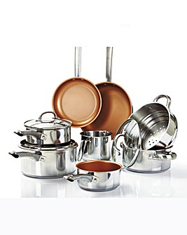 Cermalon 8 Piece Stainless Steel Pan Set