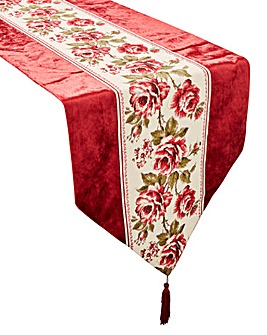 Rose Velvet Table Runner