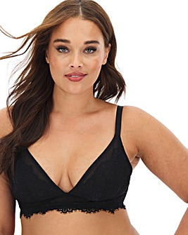 Gabi Fresh Playful Promises Lace Trim Non Wired Black Bralette