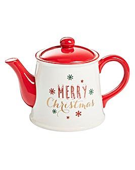 Merry Christmas Tea Pot