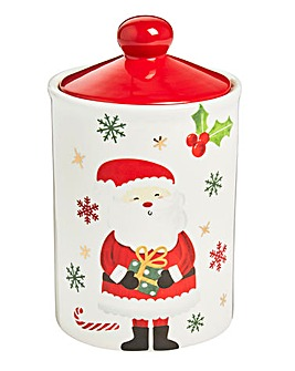 Christmas Santa Cookie Jar