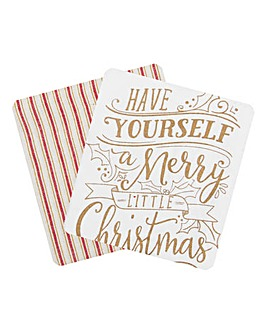 Set of 2 Merry Little Christmas Towels