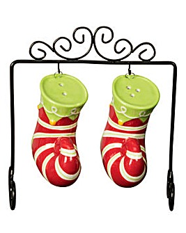 Striped Stocking Salt and Pepper Pots