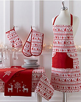 Yuletide Christmas Apron & Oven Glove