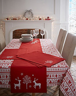 Yuletide Christmas Table Cloth