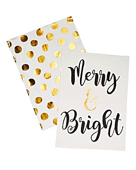 Merry & Bright Tea Towel Pair