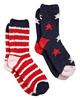 Joules 2 Pack Super Soft Fluffy Socks