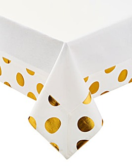 Merry & Bright Gold Foil Table Cloth