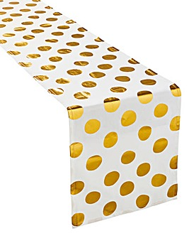Merry & Bright Gold Foil Table Runner