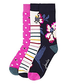 Joules 3 Pack 30th Anniversary Socks