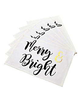Merry & Bright Set of 6 Placemats