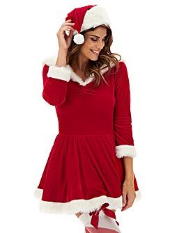 Ann Summers Sexy Miss Santa Bardot Dress