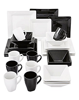 32 Piece Boston Square Dinnerset