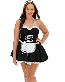 Ann Summers Maid To Pleasure Black/White Dress Set