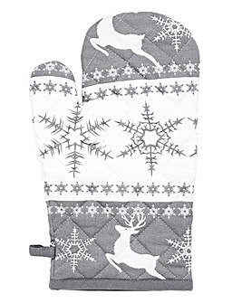 Alpine Christmas Oven Glove