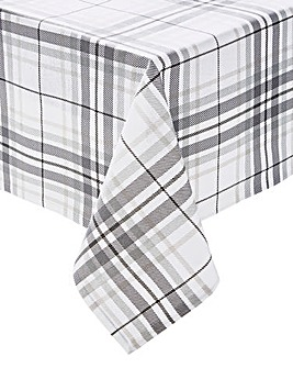 Alpine Grey Check Table Cloth