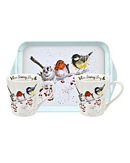 Wrendale Christmas Birds Mug Set