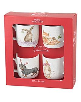 Wrendale Christmas Animals Mug Set