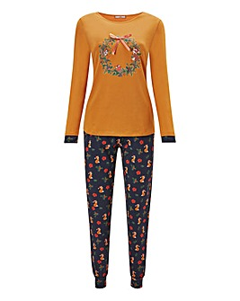 Joe Browns Christmas Fox PJ Set