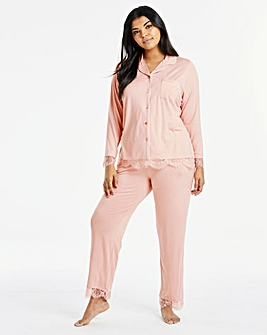 Together Button Through Lace PJ Set