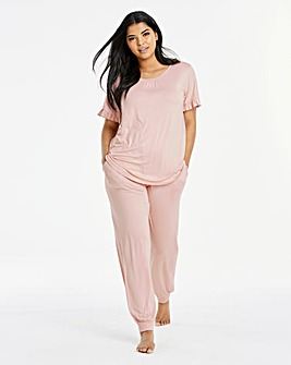 Together Frill Sleeve Cuffed Lounge Set