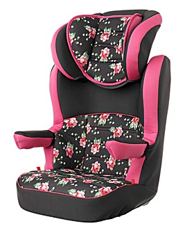 Obaby 2-3 Car Seat - Grey Rose