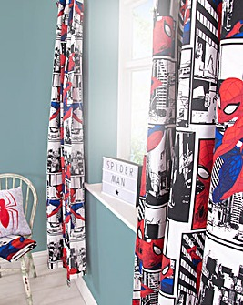 Ult Spiderman Metropolis Curtains 72in
