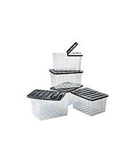 10 Litre Storage Boxes-Set of 6