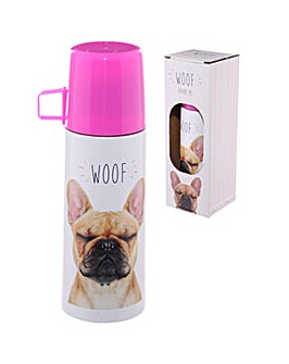 Funky 350ml Flask - Bulldog WOOF
