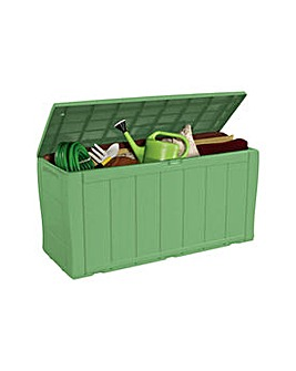 Keter Wood Effect Storage Box - Green