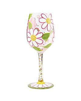 Lolita Oops I Daisied Again Wine Glass