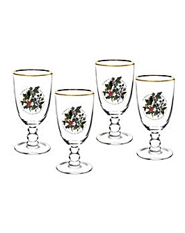 Holly & Ivy Goblets x 4