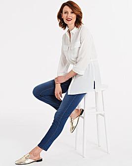 Bella Pull-On Slim Leg Jeggings Short