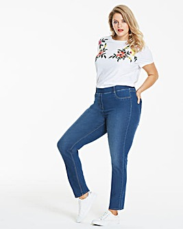Mid Blue Bella Pull-On Slim Leg Jeggings