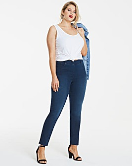 Bella Indigo Pull-On Slim Leg Jeggings Long Length