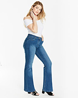 Blue Everyday Bootcut Jeans Long