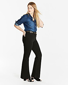 Petite Black Everyday Bootcut Jeans